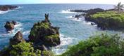 Havajské ostrovy - ostrov Havaj - Waianapanapa Park