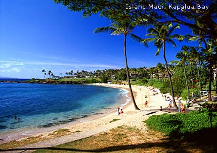 Havajské ostrovy, ostrov Maui, pláž