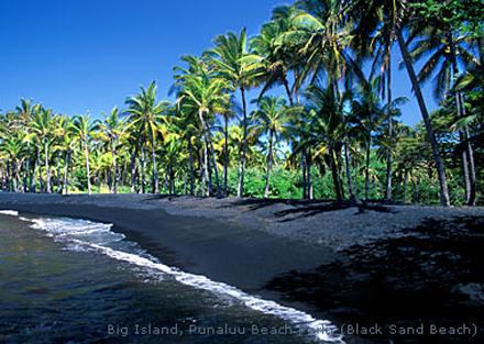 Havajské ostrovy, ostrov Havaj, pláž