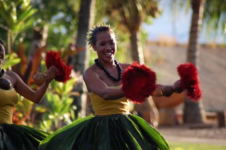 Havajské ostrovy, ostrov Havaj, tanečnice