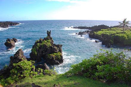 Havajské ostrovy, ostrov Havaj, Waianapanapa Park